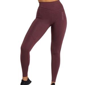 GYMSHARK lustre leggings berry red size large